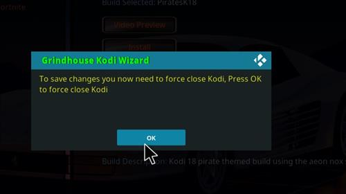 How to Install PiratesK18 Kodi Leia Build step 27