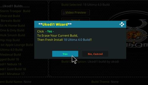How to Install Ultima 4.0 Kodi Build 18 Leia step 27