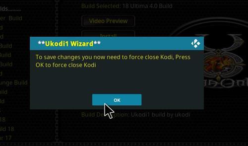 How to Install Ultima 4.0 Kodi Build 18 Leia step 29