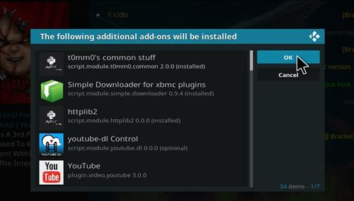 How to install Redemption Add-on for Kodi 18 Leia step 19