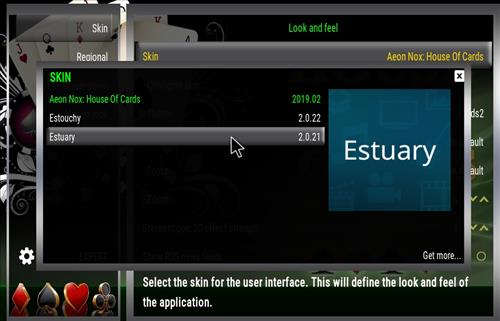 how to change the Skin back to Default Estuary house of card step 4