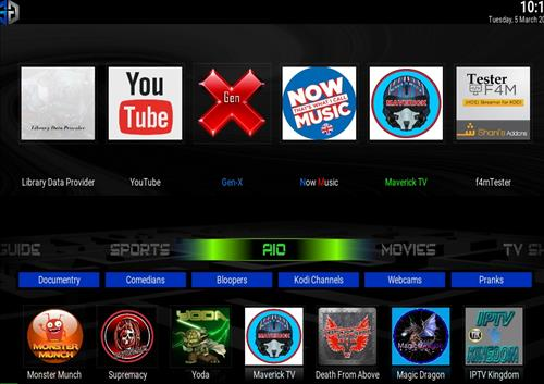 Best Working Kodi 18 Leia Builds Sg blue
