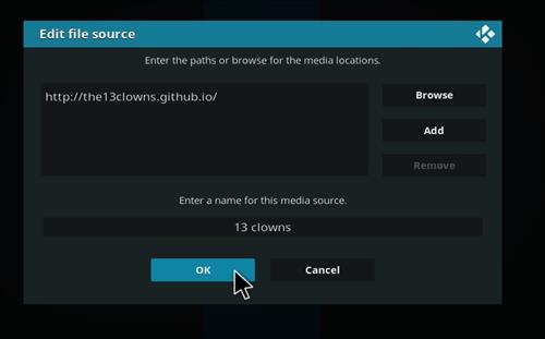 How to Install 13 clowns Video Kodi 18 Leia Add-on step 7