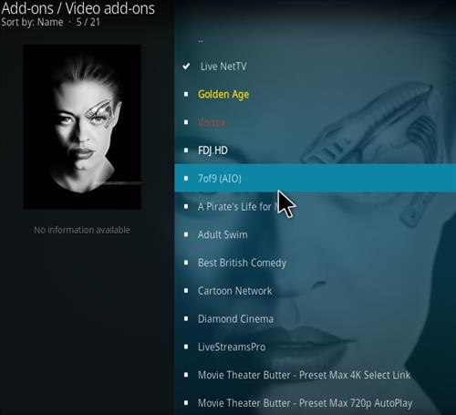 How to Install 7of9 AIO Kodi 18 Leia Add-on step 18