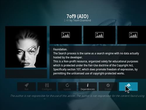 How to Install 7of9 AIO Kodi 18 Leia Add-on step 19