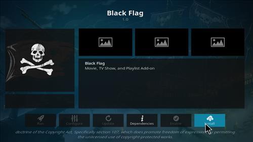 How to Install Black Flag Kodi 18 Leia Add-on step 18