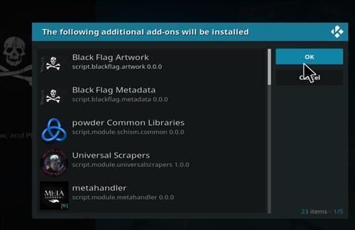 How to Install Black Flag Kodi 18 Leia Add-on step 19