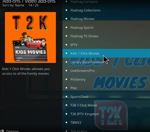 How to Install Kids1 Click Movies Kodi 18 Leia Add-on step 17