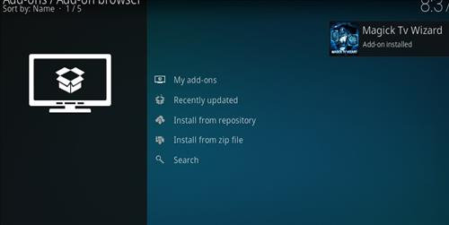 How to Install Magick TV Myth Kodi 18 Leia step 13
