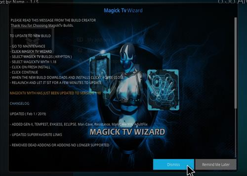 How to Install Magick TV Myth Kodi 18 Leia step 14