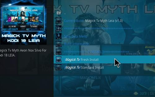 How to Install Magick TV Myth Kodi 18 Leia step 18