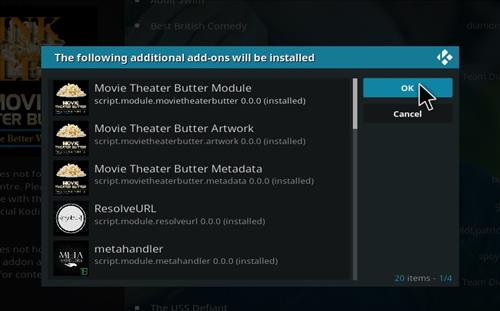 How to Install Movie Theater Butter Kodi 18 Leia Add-on step 20