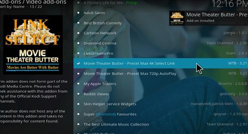 How to Install Movie Theater Butter Kodi 18 Leia Add-on step 21