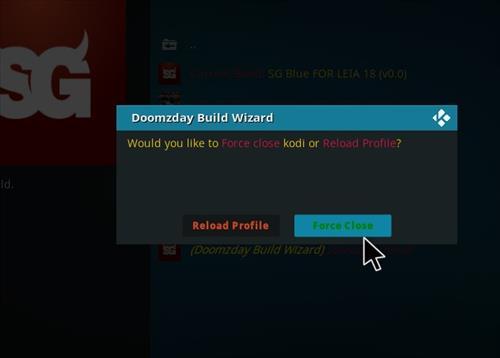 How to Install SG Blue Kodi Build 18 Leia step 20