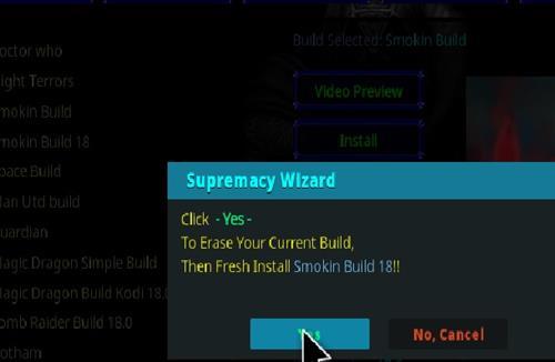 How to Install Smokin 18 Kodi Build Leia step 24