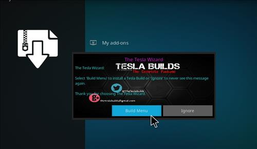 How to Install Teslax18 Kodi Build 18 Leia step 15