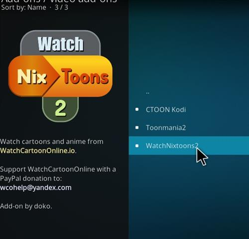 How to Install WatchNixtoons2 Kodi 18 Leia Add-on step 17