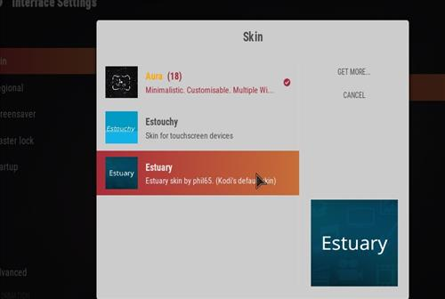 How to change the Skin back to Default Estuary teslax step 4