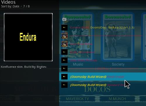 How to Install Endura Kodi 18 Build Leia step 18
