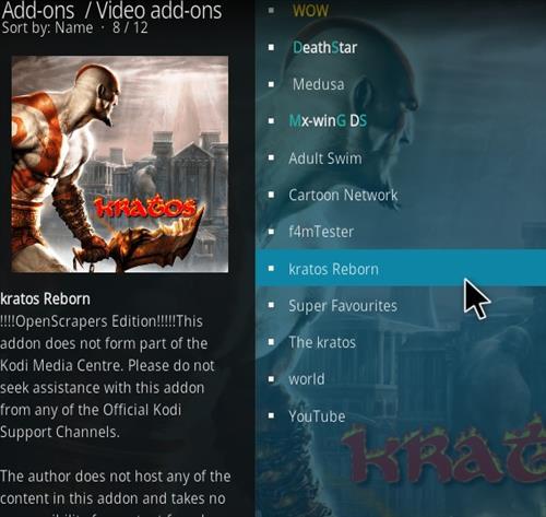 How to Install Kratos Reborn Kodi 18 Leia Add-on step 17