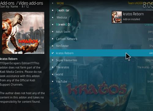 How to Install Kratos Reborn Kodi 18 Leia Add-on step 20