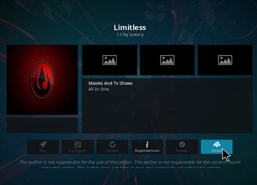 How to Install Limitless Kodi 18 Leia Add-on step 18