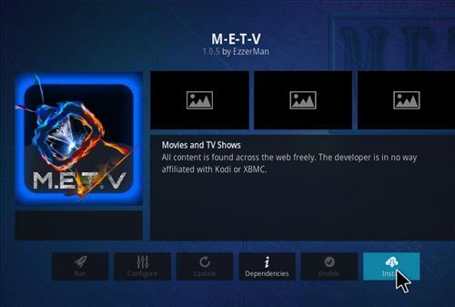 How to Install M-E-T-V Kodi 18 Leia Add-on step 18