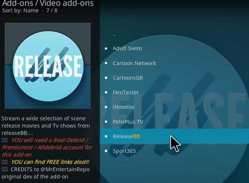 How to Install Release BB Kodi 18 Leia Add-on step 17