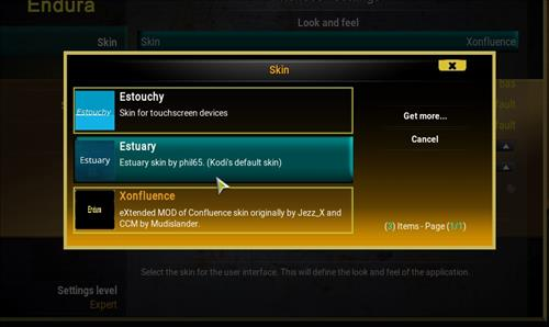 How to change the Skin back to Default Estuary endura step 4