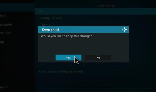 How to change the Skin back to Default Estuary endura step 5