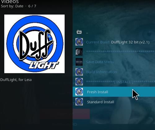 How to Install Duff Light Kodi 18 Build Leia step 24