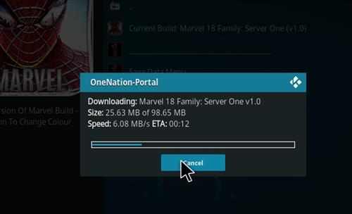How to Install Marvel 18 Family Kodi Build Leia step 20