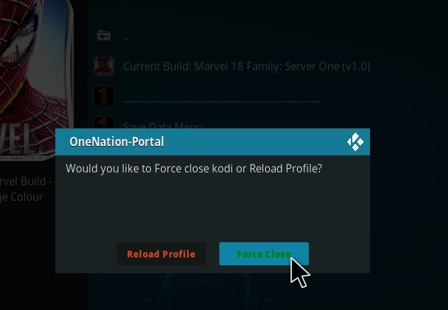 How to Install Marvel 18 Family Kodi Build Leia step 21