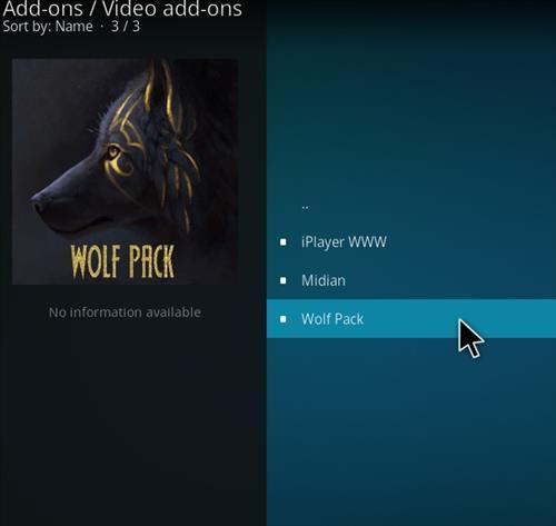 How to Install WolfPack Kodi 18 Leia Add-on step 17