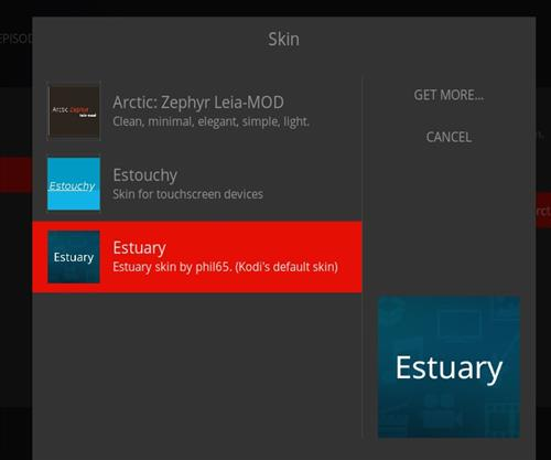 How to change the Skin back to Default Estuary dufflight step 4
