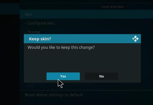 How to change the Skin back to Default Estuary dufflight step 5