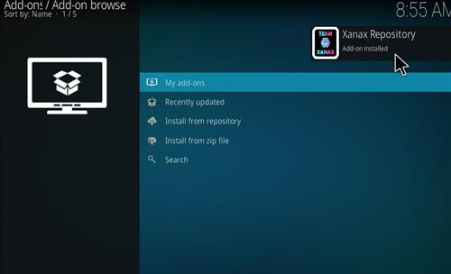 How to install Xanax Build on Kodi 18 Leia step 13