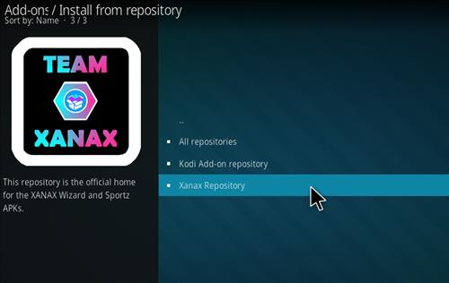How to install Xanax Build on Kodi 18 Leia step 15