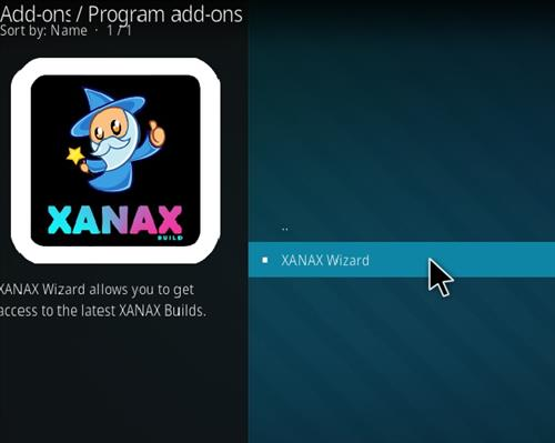 How to install Xanax Build on Kodi 18 Leia step 17
