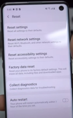 How To Factory Reset a Samsung Galaxy S10 from Settings Step 4
