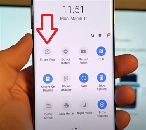 How to Screen Mirror to Samsung Smart TV Galaxy S10, S10E, S10+ Step 6